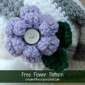 Flower Pattern by Cream Of The Crop Crochet