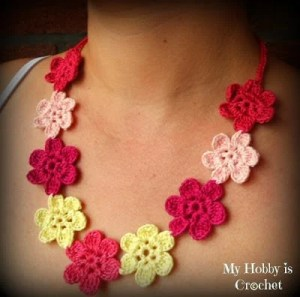 Flower Necklace Hawaiian Dream by My Hobby is Crochet