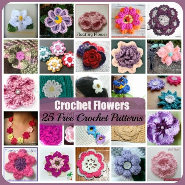 Crochet Flowers ~ 25 FREE Crochet Patterns - Rhelena\'s Crochet Blog