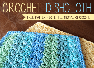 Crochet Dishcloth by Little Monkeys Crochet