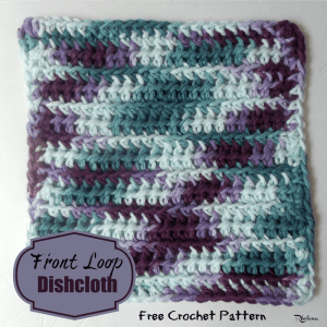 Front Loops Dishcloth by CrochetN'Crafts