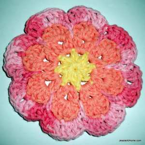 Large Flat Flower Motif or Coaster by Jessie At Home