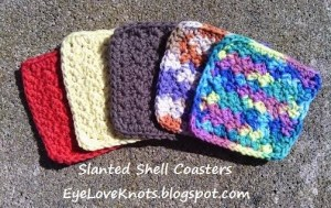 Slanted Shell Coaster by EyeLoveKnots