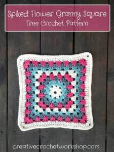 Spike Flower Granny Square by Creative Crochet Workshop