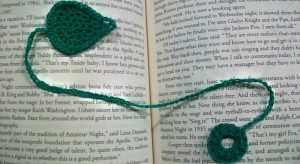 Leaf Bookmark by Candace for Crochet Spot