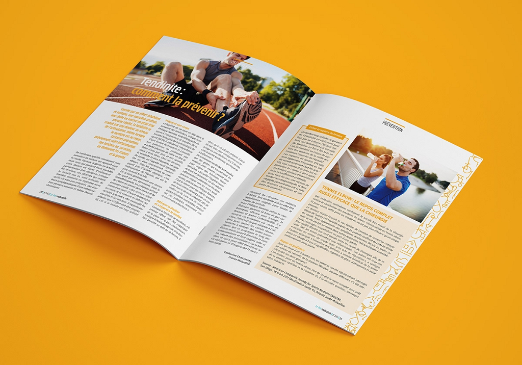 Un dossier du magazine 149 est consacré à la tendinite.
