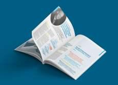 Nous avons imaginé une mise en page dynamique et colorée, pour que le lecteur se lasse pas d'une page à une autre