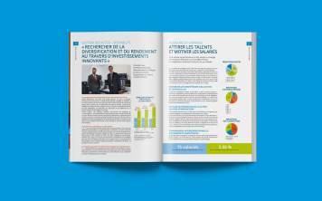 La mise en page du rapport annuel se veut aérée, afin que les données soient facilement accessibles au lecteur