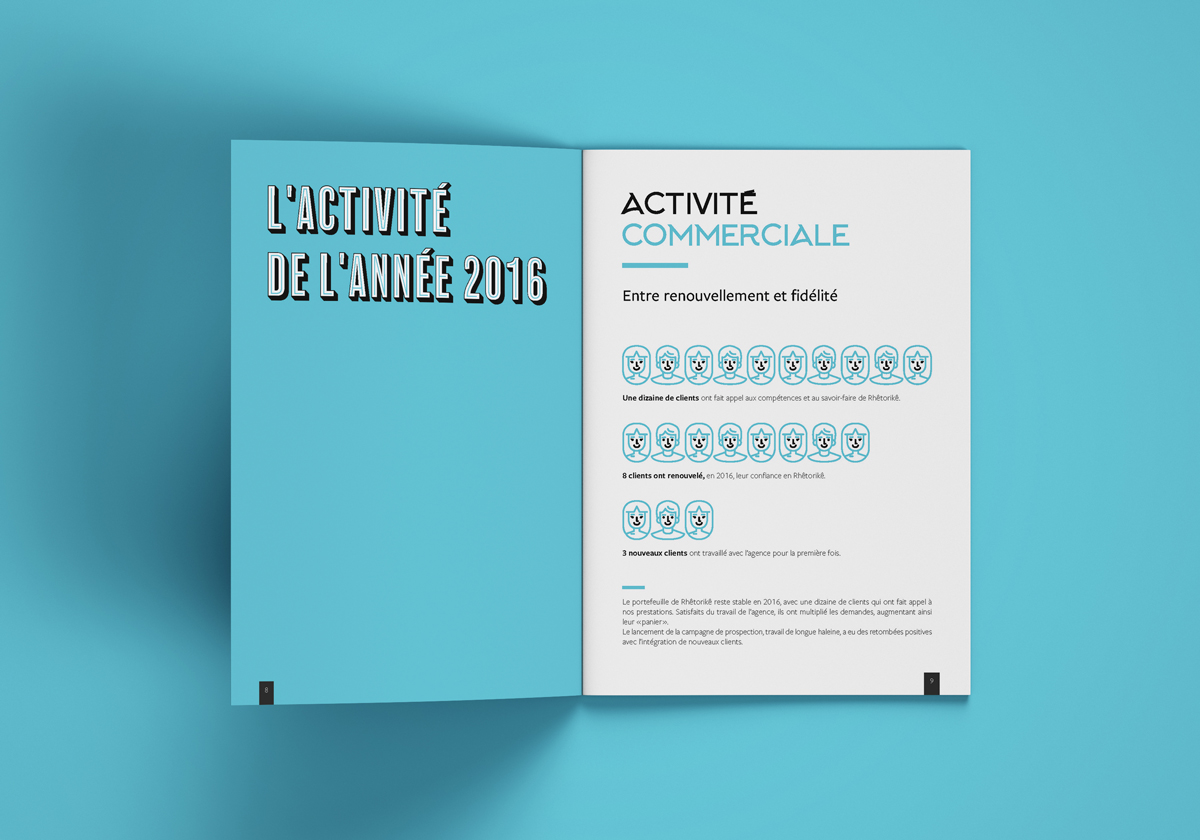 Notre activité annuelle présentée de façon ludique avec l'utilisation de pictogrammes