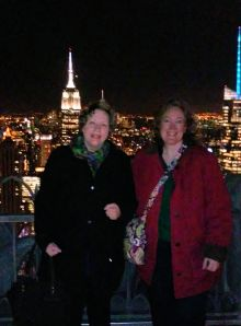 Me and Lisa Emrich at the Top of the Rock in NYC after the RealtAlkRA summit in January 2016.