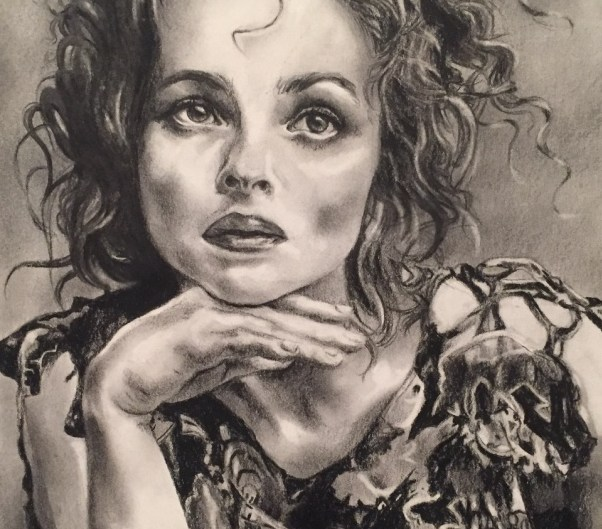 Helena Bonham Carter pencil portrait