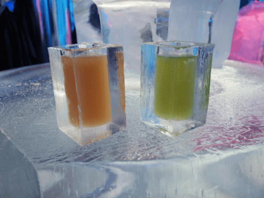 ice bar cocktails