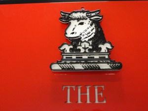 A closeup of Huntingdon Valley's logo