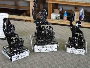Some trophies for a charity event at Black Rock