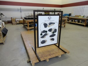 Range Sign with chalkboard greens for recording yardage.