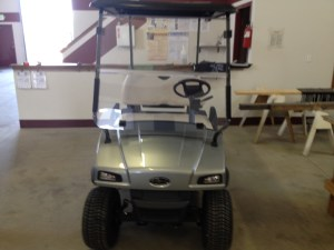 The golf cart before.
