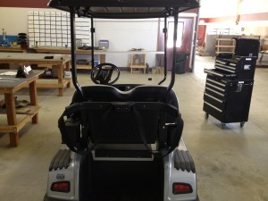 Rear of the cart.