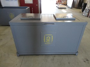 Custom Garbage and Recycle Can