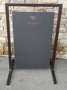 Hanging Chalk Board- The Cliffs