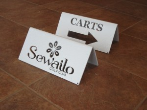 Directional Cart Sign- Sewailo