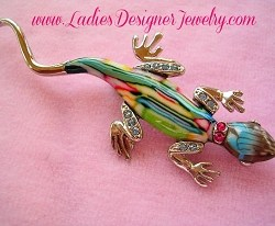 insect pin lizard pin with movable tail rhinestone lizard pins lizzard pin lizard pins lizard brooch Rhinestone lizard pin gecko pin