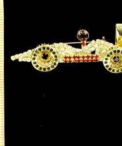 7fdf28b67fd Vintage Stock Car Auto Racing Sports Rhinestone Pin Brooch For Men And Women