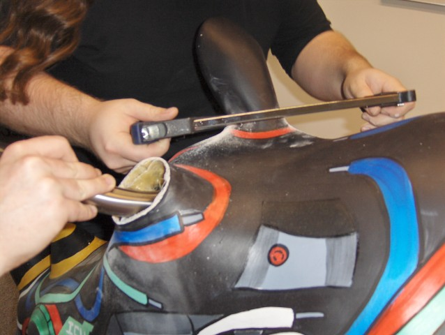 Cutting the ears so they can be remounted on motors