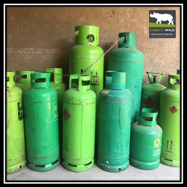 Gas Bottles, Save the Rhino