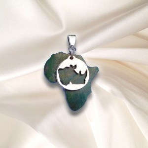 Africa Rhino Head PendantSave the Rhino -