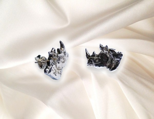 Save the Rhino - Rhino Head Stud Earrings