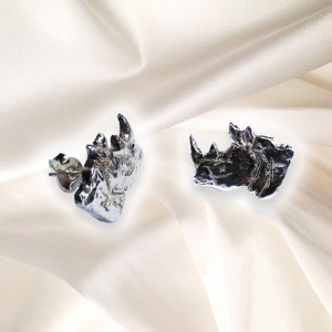 Save the Rhino - Rhino Head Stud Earrings