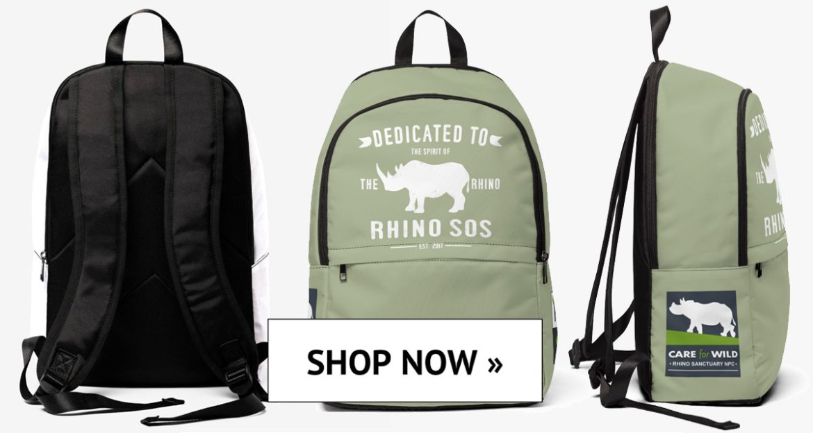 Save the Rhino, Rhino Spirit Tribe Backpacks