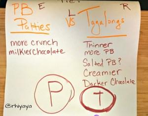 peanut butter patties tagalongs