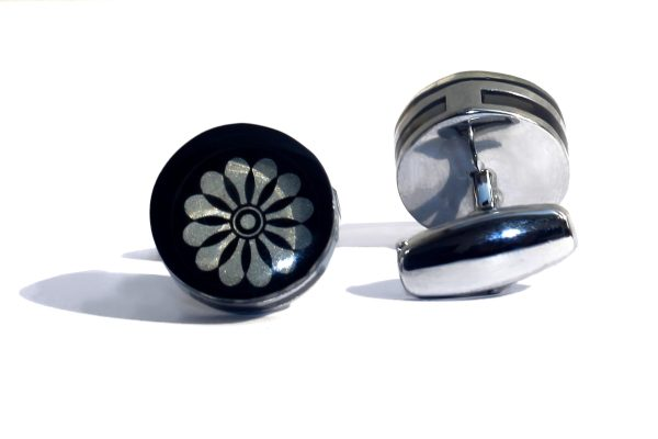 Indefinite Floral Stainless Steel Cufflink - RHIZMALL.PK Online Shopping Store.