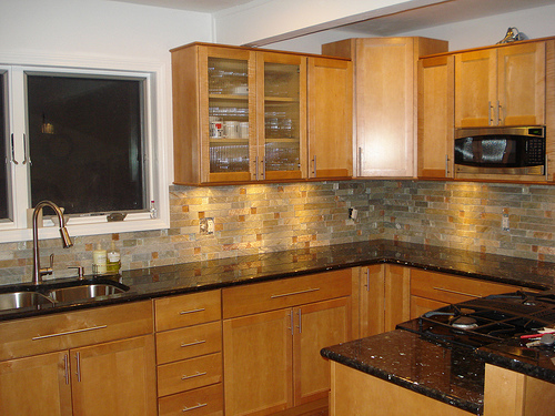 Kitchen Countertops - Material and Color Choices - Rhode ... on What Color Cabinets With Black Granite Countertops  id=61373