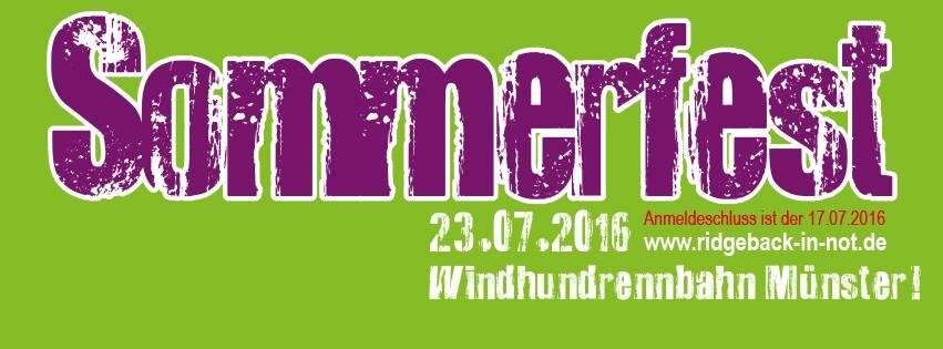 Sommerfest 2016 - 13. Treffen zugunsten Rhodesian Ridgeback in Not e.V.