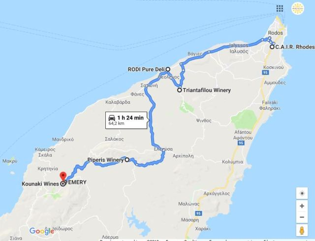 route des vins de Rhodes