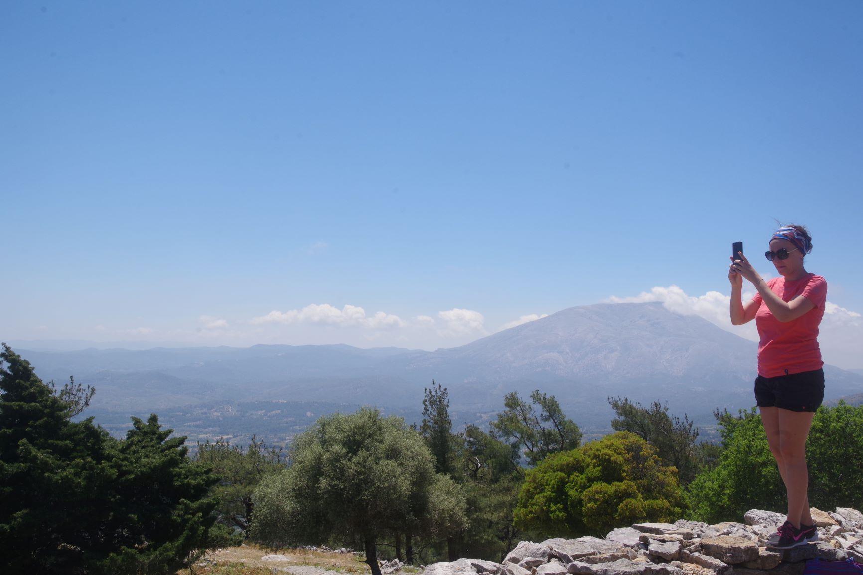 vue panoramique les sept portes Rhodes