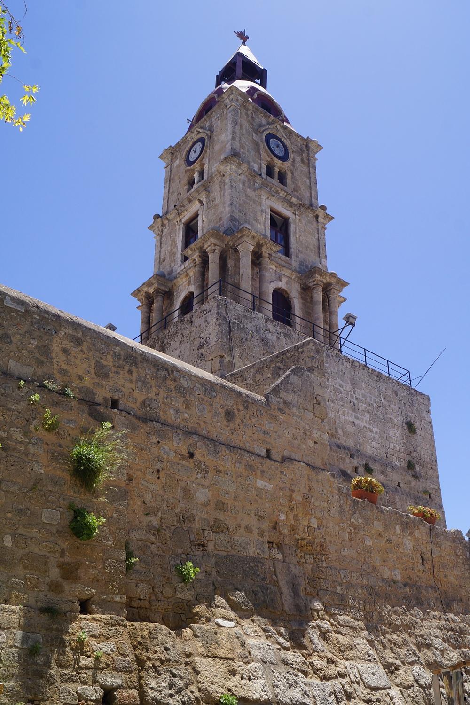 Tour de l'horloge à Rhodes