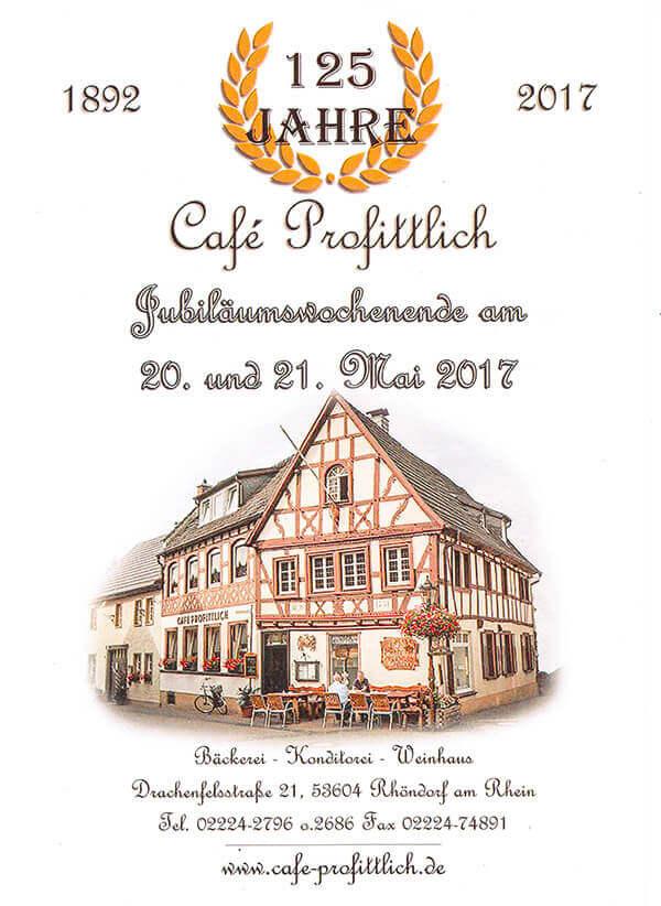 125 Jahre Café Profittlich in Rhöndorf