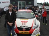 Myself in front of a replica 2015 BTCC Honda.