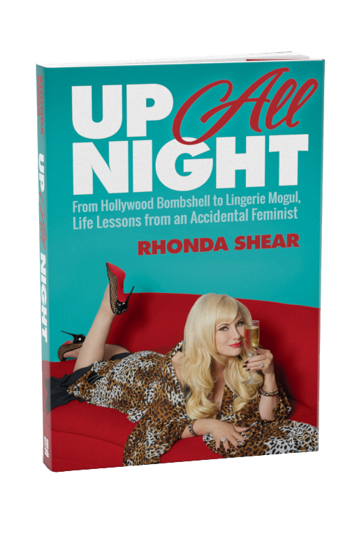 Rhonda Shear signed book up all night autographed autobiography