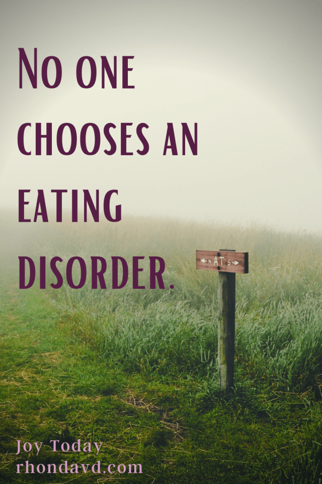 No one chooses an eating disorder. It is a disease like any other with a cause, treatment, recovery, and the need for community in the fight.