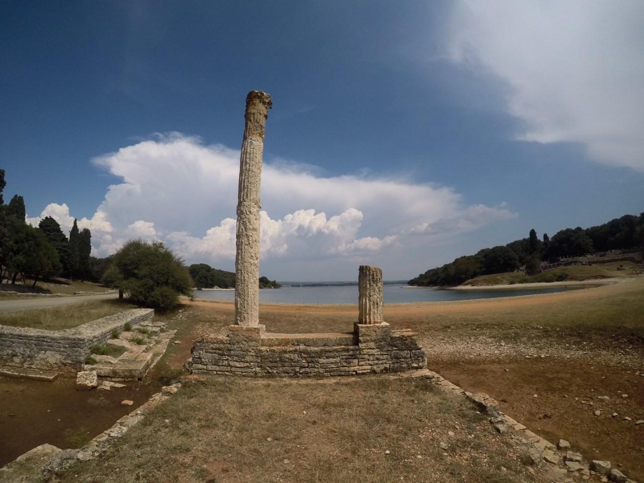 Roman columns Brijuni National Park