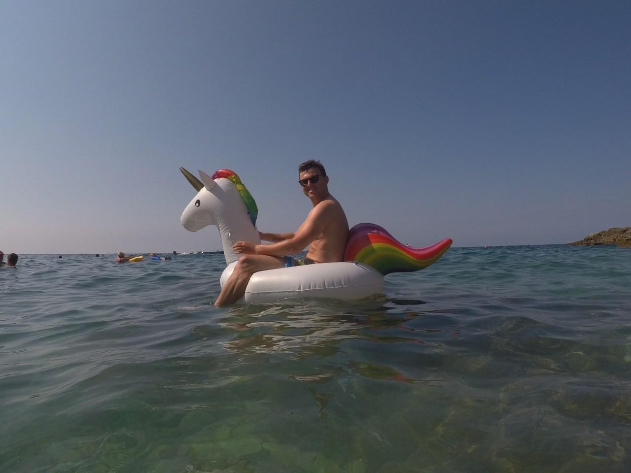 Swimming at Pula beach