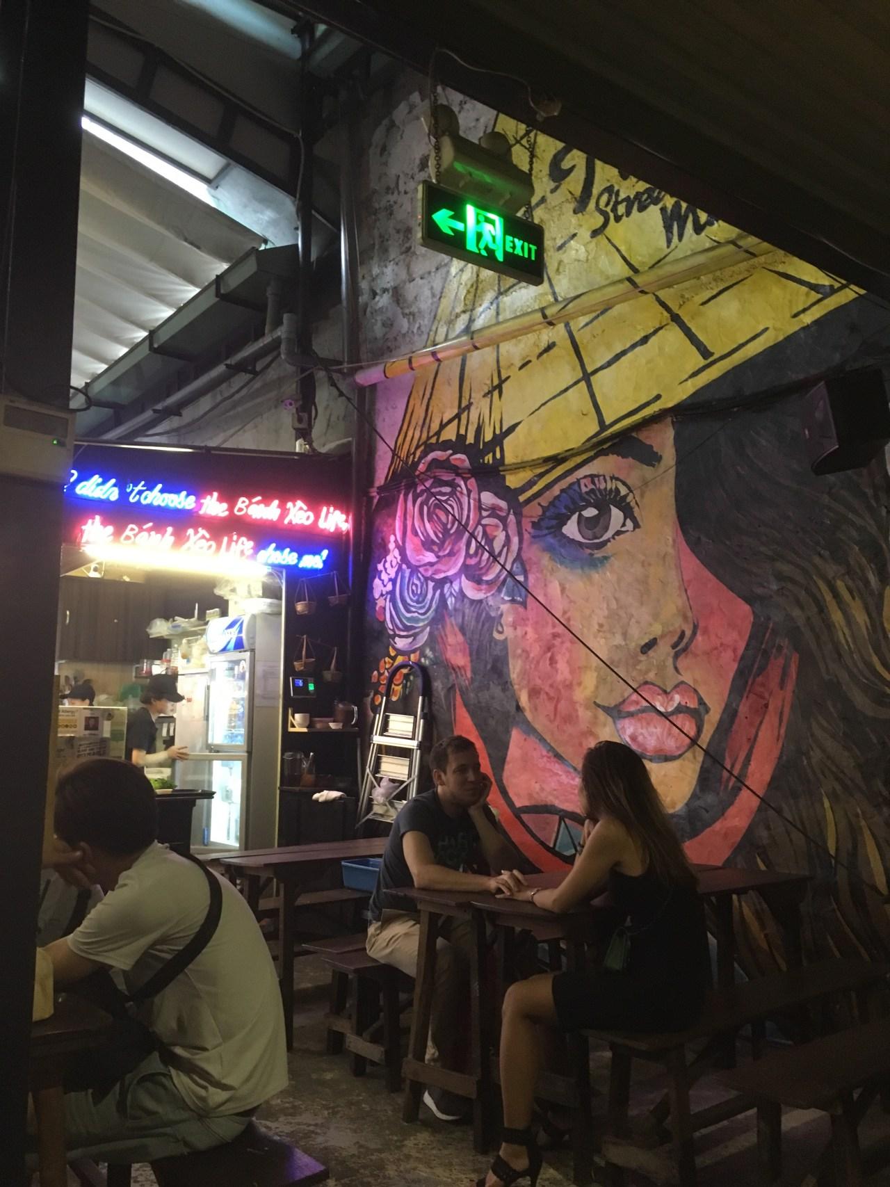 Street art in Ho Chi Minh City, Vietnam