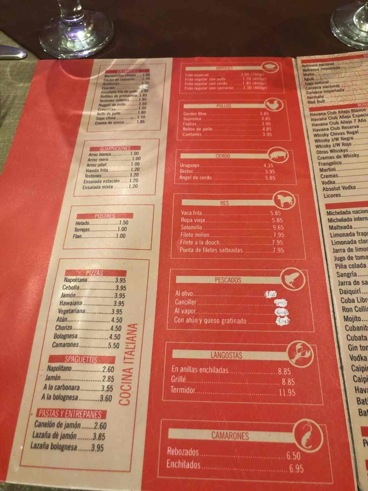 Chinese restaurant in Havana China Town