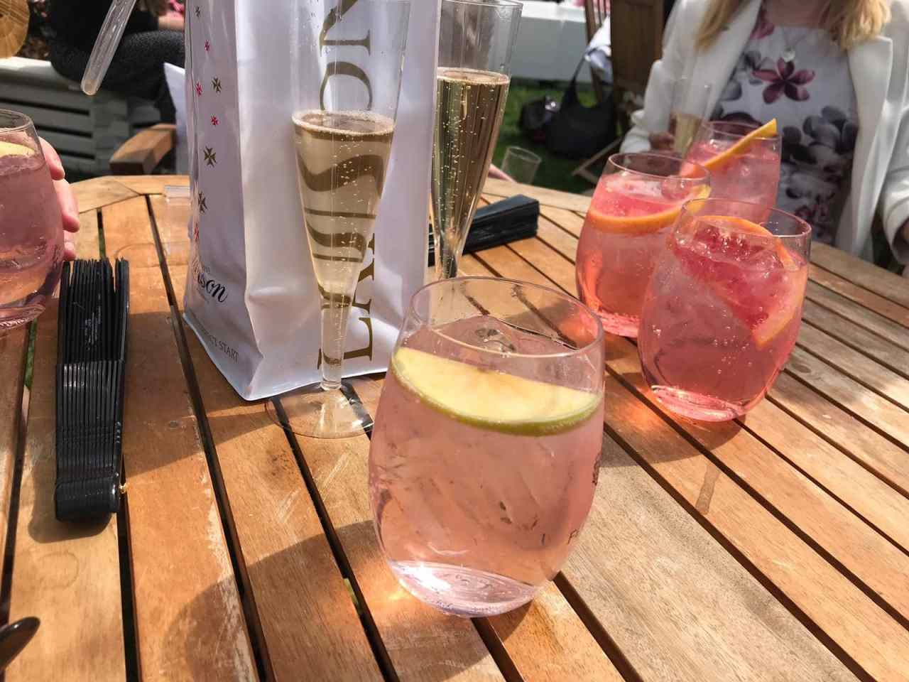 Drinks at polo in the park