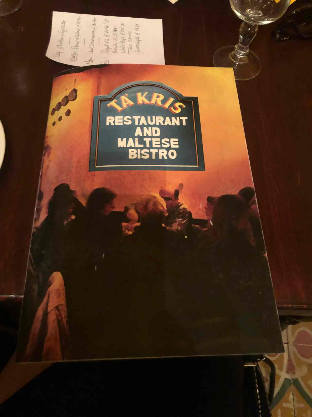 Ta Kris menu