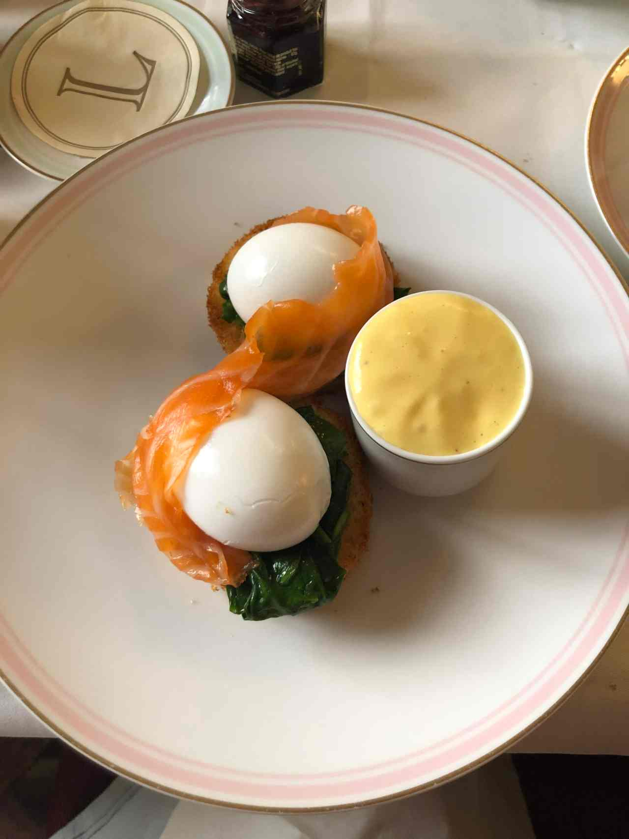 Eggs royale at Laudree Paris